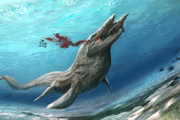 Tylosaurus merupakan kadal laut purba