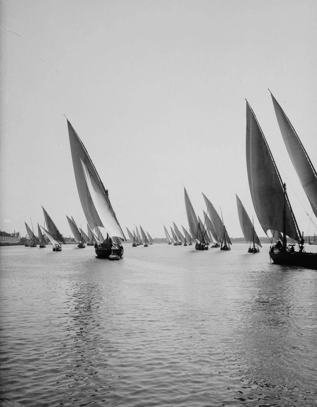 Boats on the Nile. 1900.