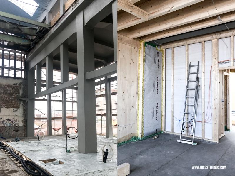 Alte Industriehalle, zu Loft-Wohneinheiten ausgebaut