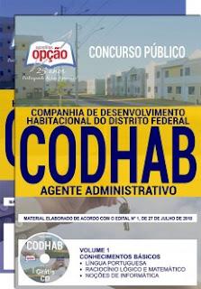 Baixar Apostila Concurso CODHAB 2018 PDF