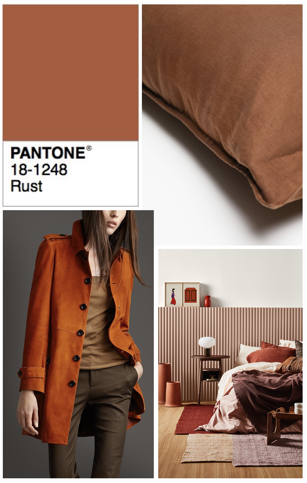 ilaria fatone moodboard for rust tones in winter 2018