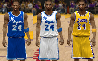 NBA 2K13 Los Angeles Lakers Retro Uniforms Mod