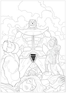 Thanos Marvel Coloring Pages For Kids