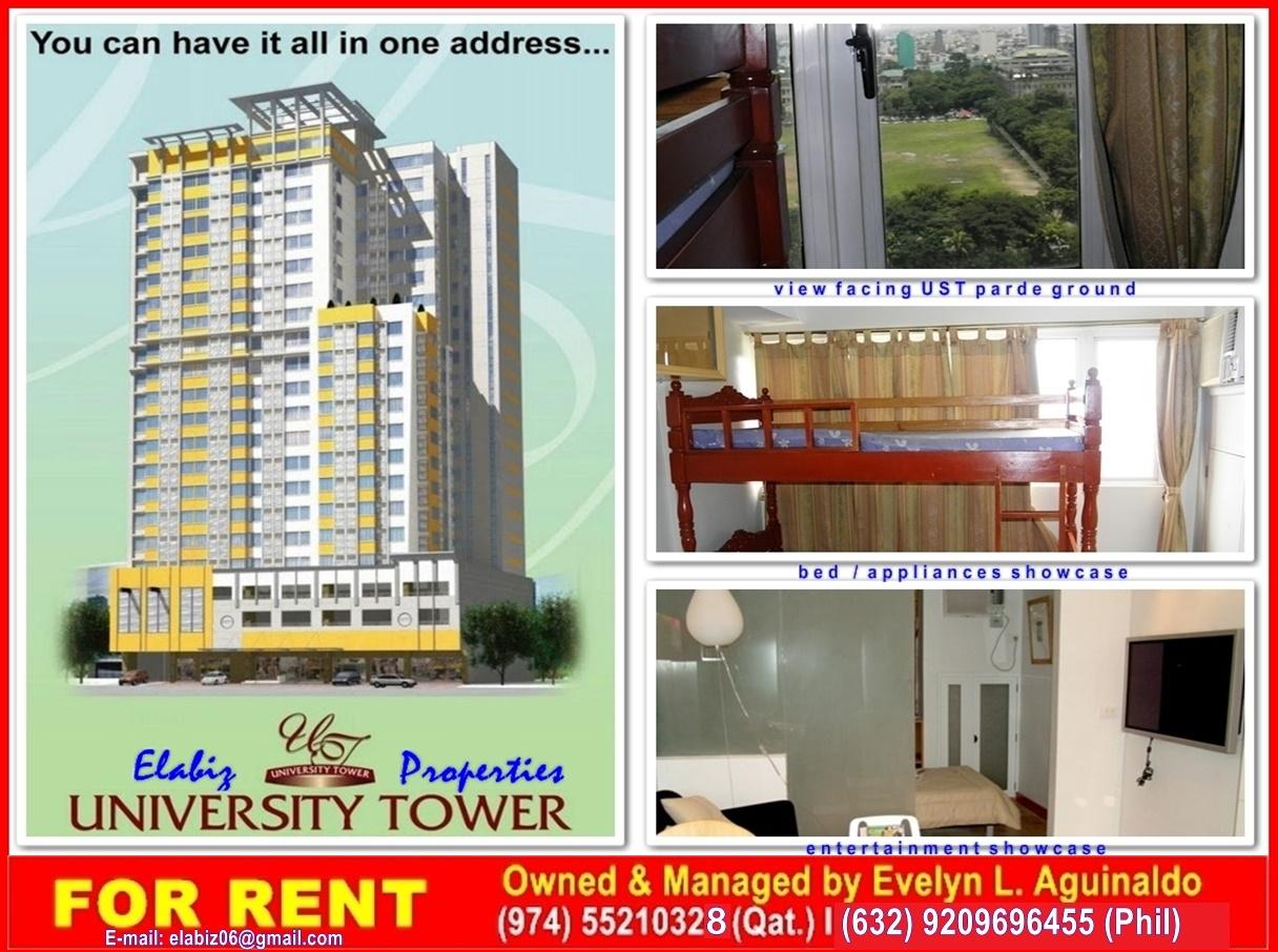 elabizProperties: Ela G student condo at University Tower 1 Manila #C3A608