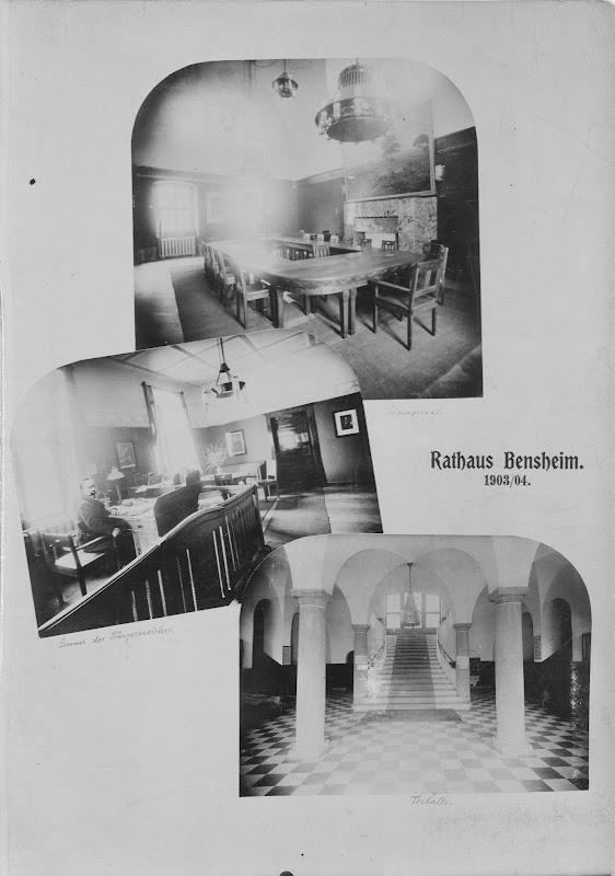 Das alte Bensheimer Rathaus in 3 Innenansichten von 1903 / 1904, Quelle: Stadtarchiv Bensheim, eingescannt 600 dpi, Stoll-Berberich 2015