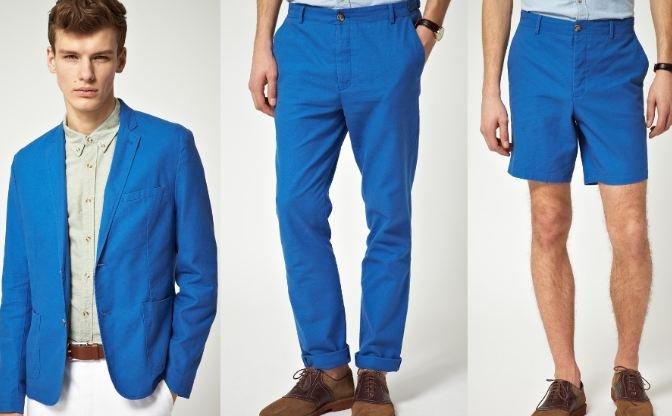 Pantanon Azul Turquesa Hombre
