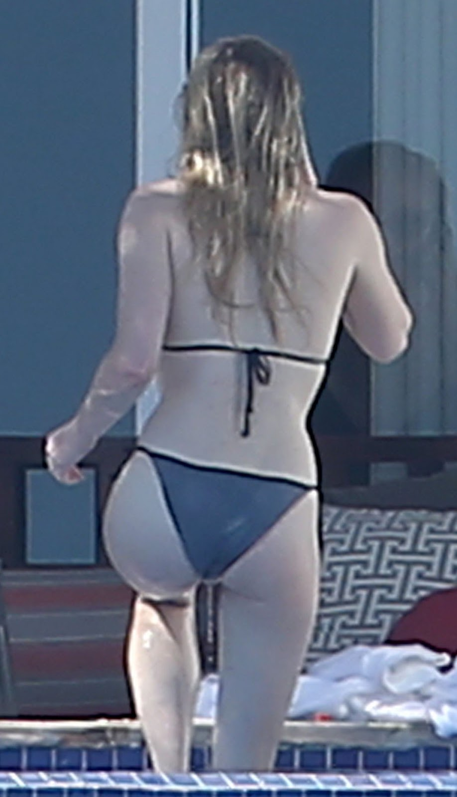 Bella thorne topless in a lingerie thong 7