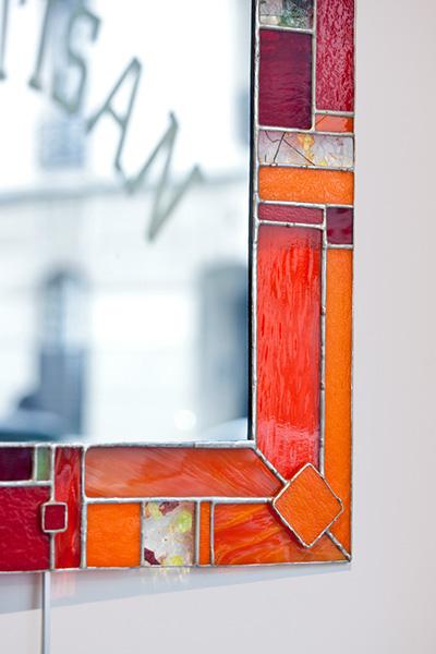 Feuille d'Automne - miroir rectangulaire