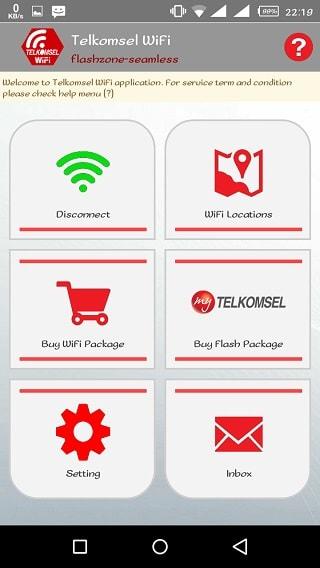 cara menggunakan flashzone seamless dengan Telkomsel WiFi