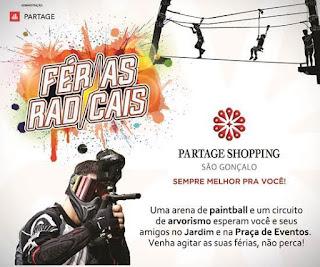 Férias radicais no Partage Shopping São Gonçalo