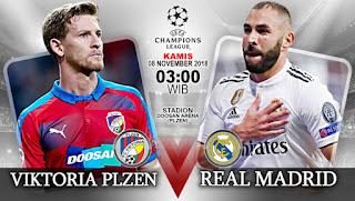 بث مباشر مباراة ريال مدريد وفيكتوريا بلزن اليوم 7-11-2018 دوري أبطال أوروبا Viktoria vs Real Madrid Live
