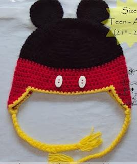 http://damnitjanetletscrochet.blogspot.ca/2012/10/mickey-mouse-earflap-beanie.html