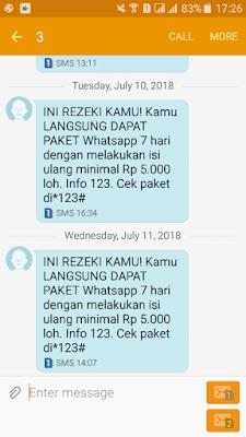 Kuota WhatsApp Kartu 3 Tri Gratis Terbaru dari Isi Ulang
