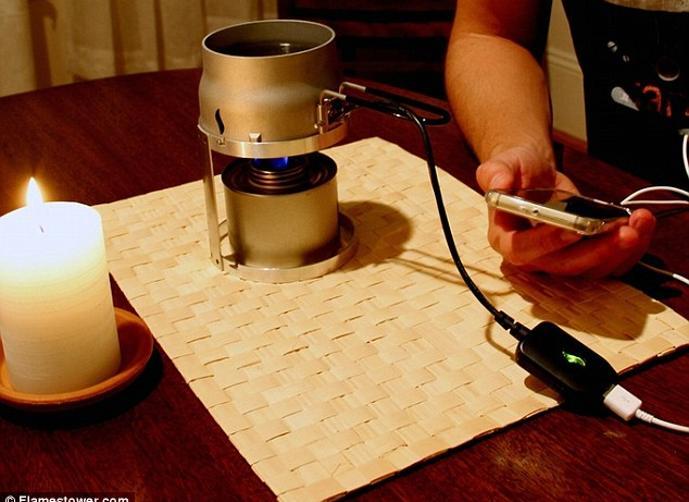 تعرف على طريقة جديدة وكيفية شحن الهواتف باستخدام شمعة .
