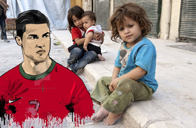 رونالدو يتضامن مع أطفال سوريا