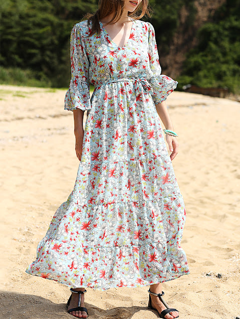 http://www.zaful.com/full-floral-print-v-neck-3-4-sleeve-maxi-dress-p_189576.html