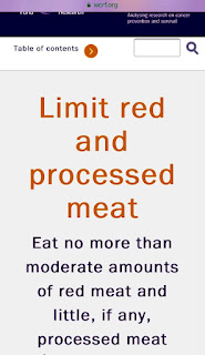 Eat little IF ANY processed meat - school dinners cause cancer