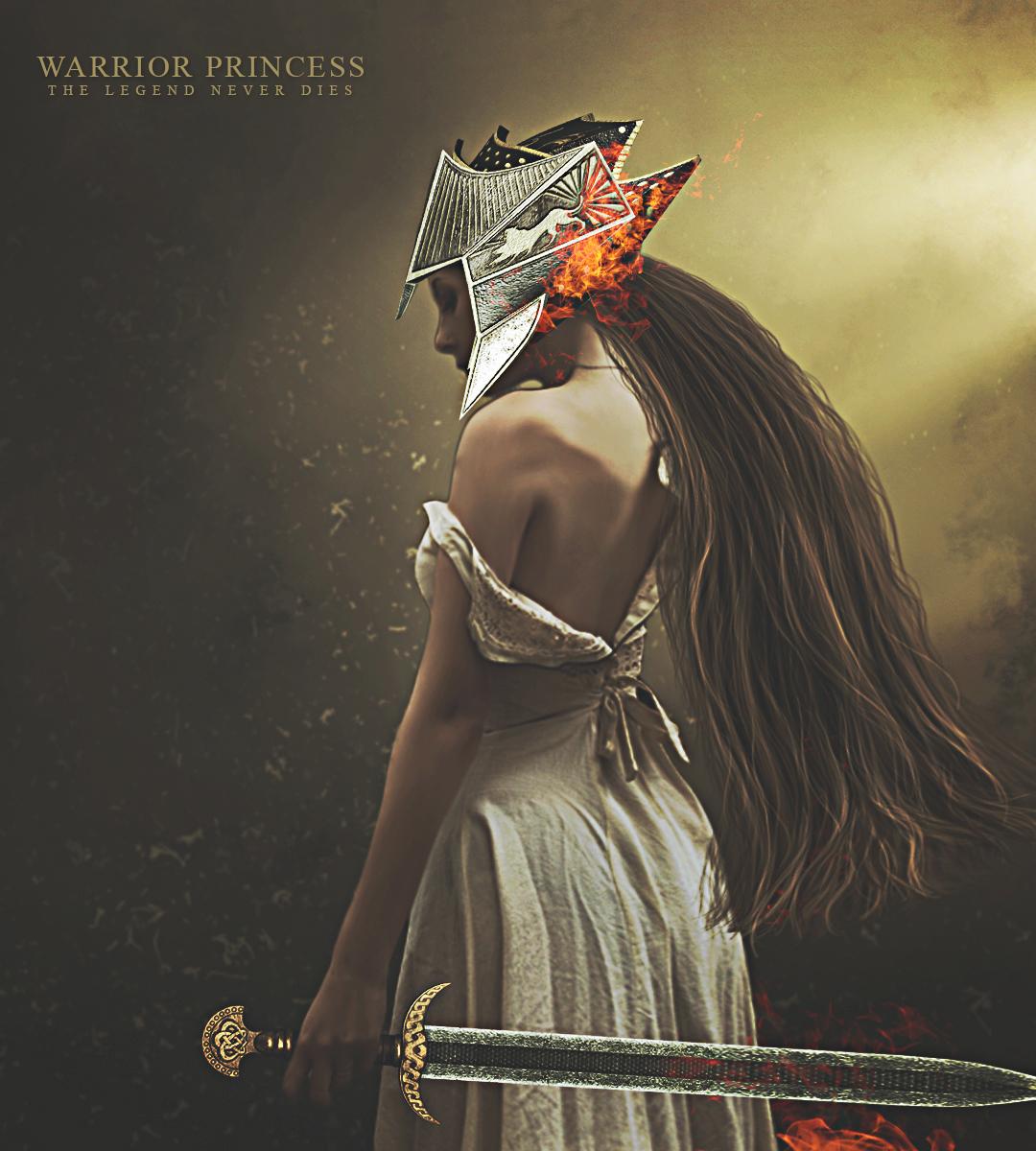 Create Warrior Princes Digital Art In Photoshop