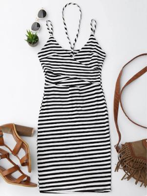 zaful wishlist, stripes, dress, print, pruge, uzorak, black and white, summer, ljeto, fashion, moda