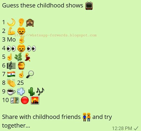 Guess these childhood Shows