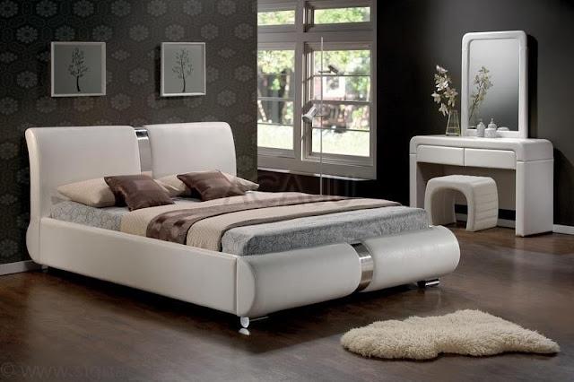 pat matrimonial-paturi dormitor-alb