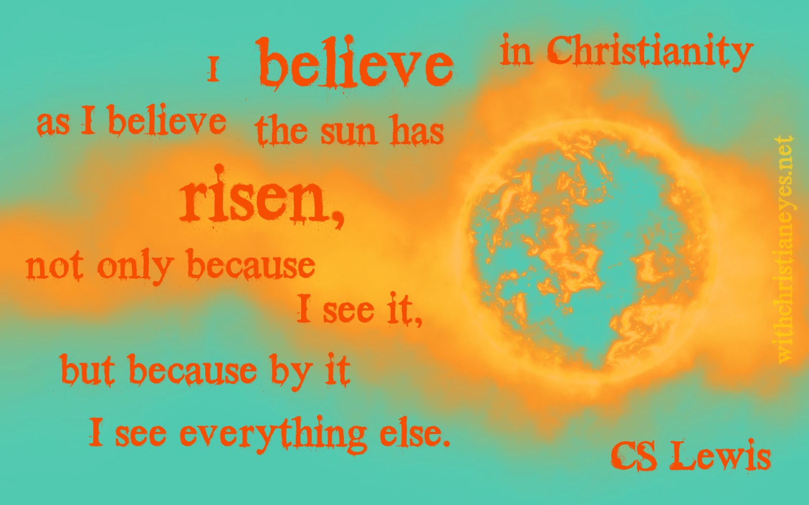 CS Lewis sun quote