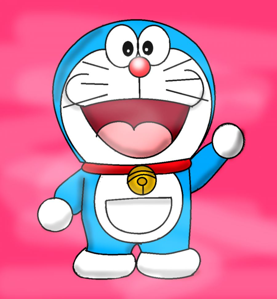 Doraemon Pink Background Wallpaper