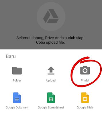 Scan gambar menjadi pdf di google drive