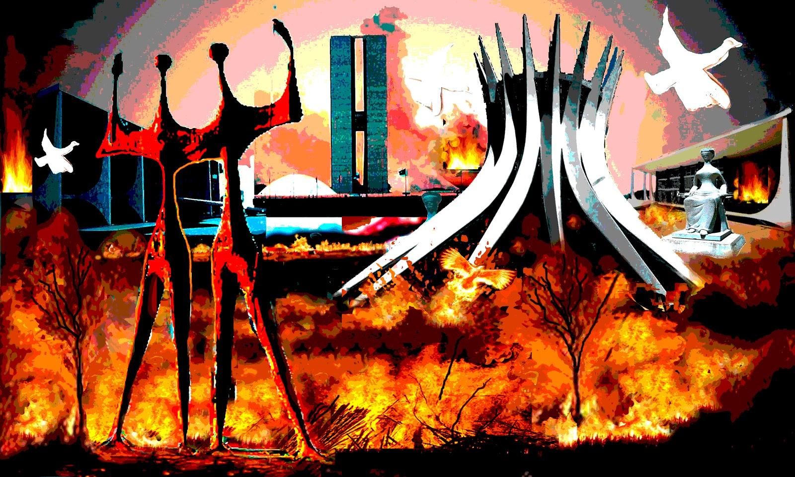 Resultado de imagem para brasilia em chamas
