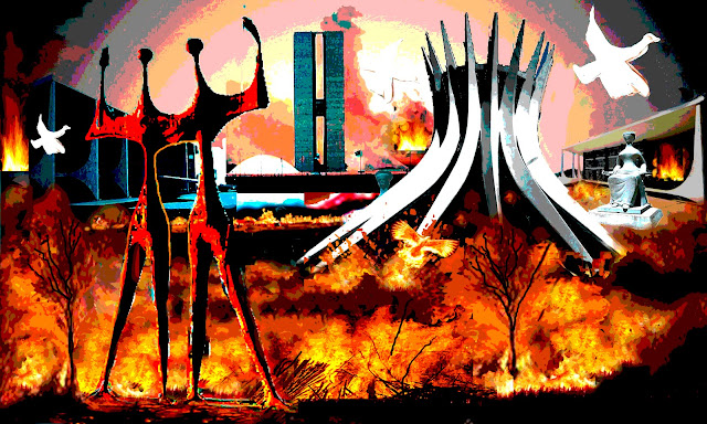 Resultado de imagem para brasília em chamas