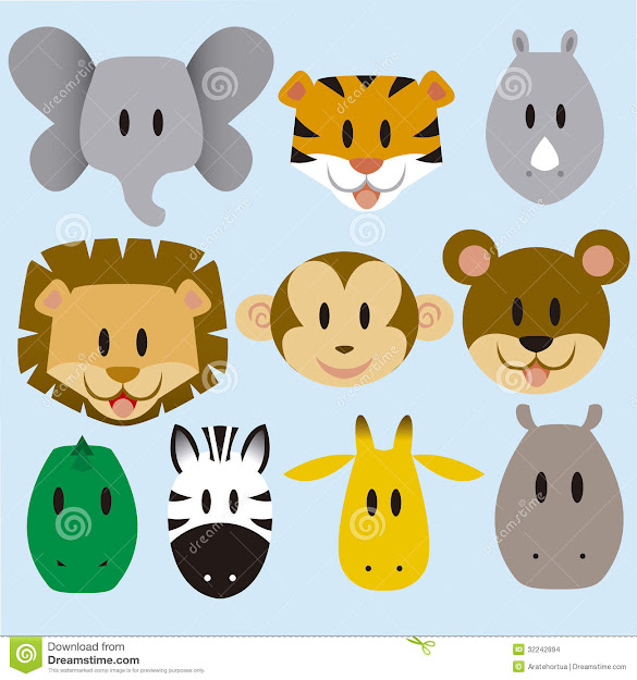 Cute Banimalsb Vector Set Stock Images