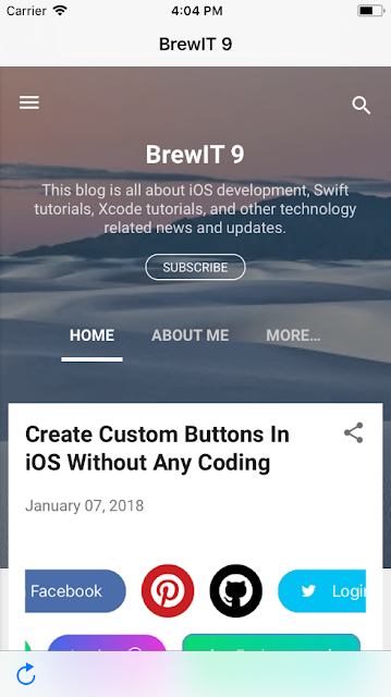 Web View in iOS