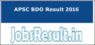 APSC BDO Result 2016