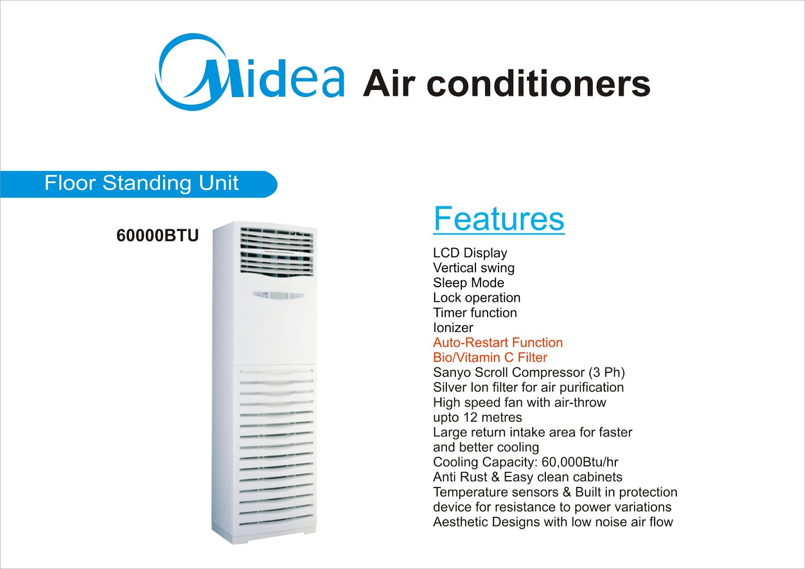 #0783C4 BEST  : MIDEA PRODUCTS Best 2933 Floor Standing Ac Unit photos with 1600x1131 px on helpvideos.info - Air Conditioners, Air Coolers and more