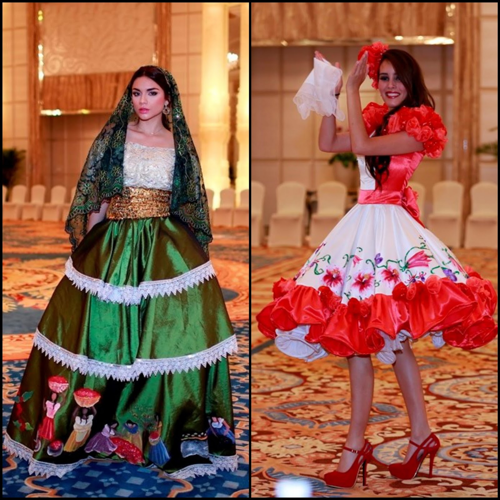 Traditional: SASHES AND TIARAS.....Miss World 2015 National Costumes