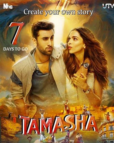 Poster Of Tamasha 2015 Hindi 700MB DVDRip x264 Free Download Watch Online
