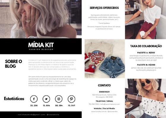 Mídia kit grátis para digital Influencer