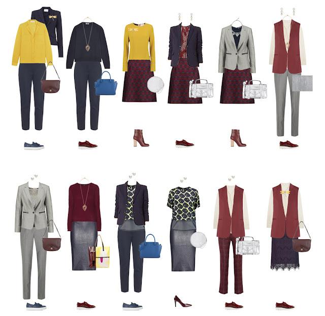 Комплекты капсульного гардероба в офисном стиле