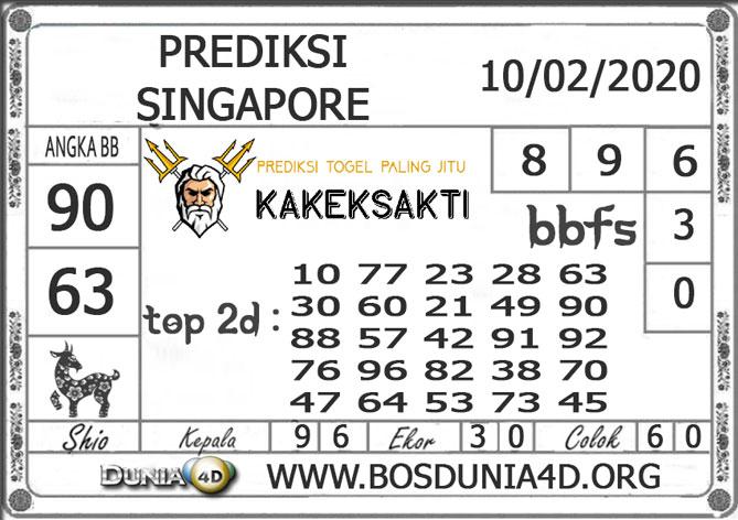 PREDIKSI TOGEL SINGAPORE DUNIA4D 10 FEBRUARI 2020