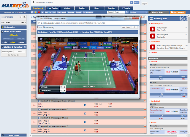 MaxBet IBCBet Malaysia Free Subscription to Live Sports Streaming