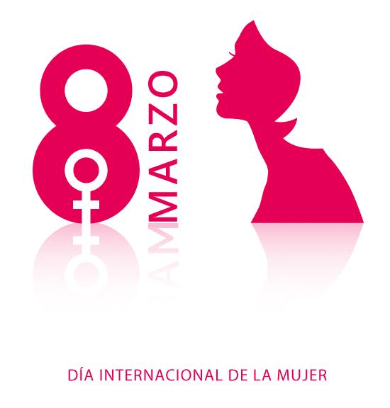 Cartel del Día de la Mujer con reflejos