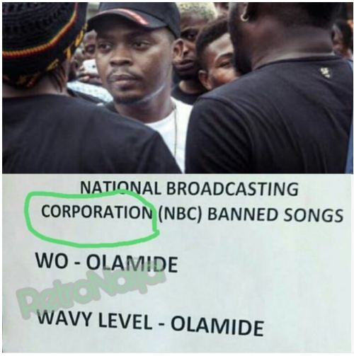 """We Didn't Ban Olamide's ""Wo"" Song""- NBC Denies Media Rumors"