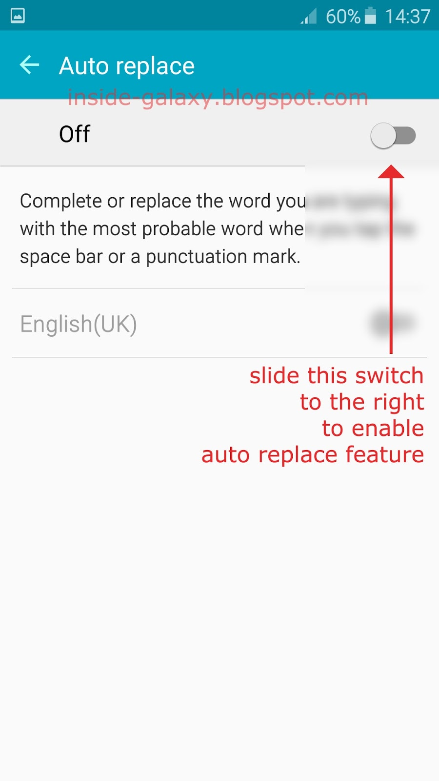 how to switch off dictionary in samsung