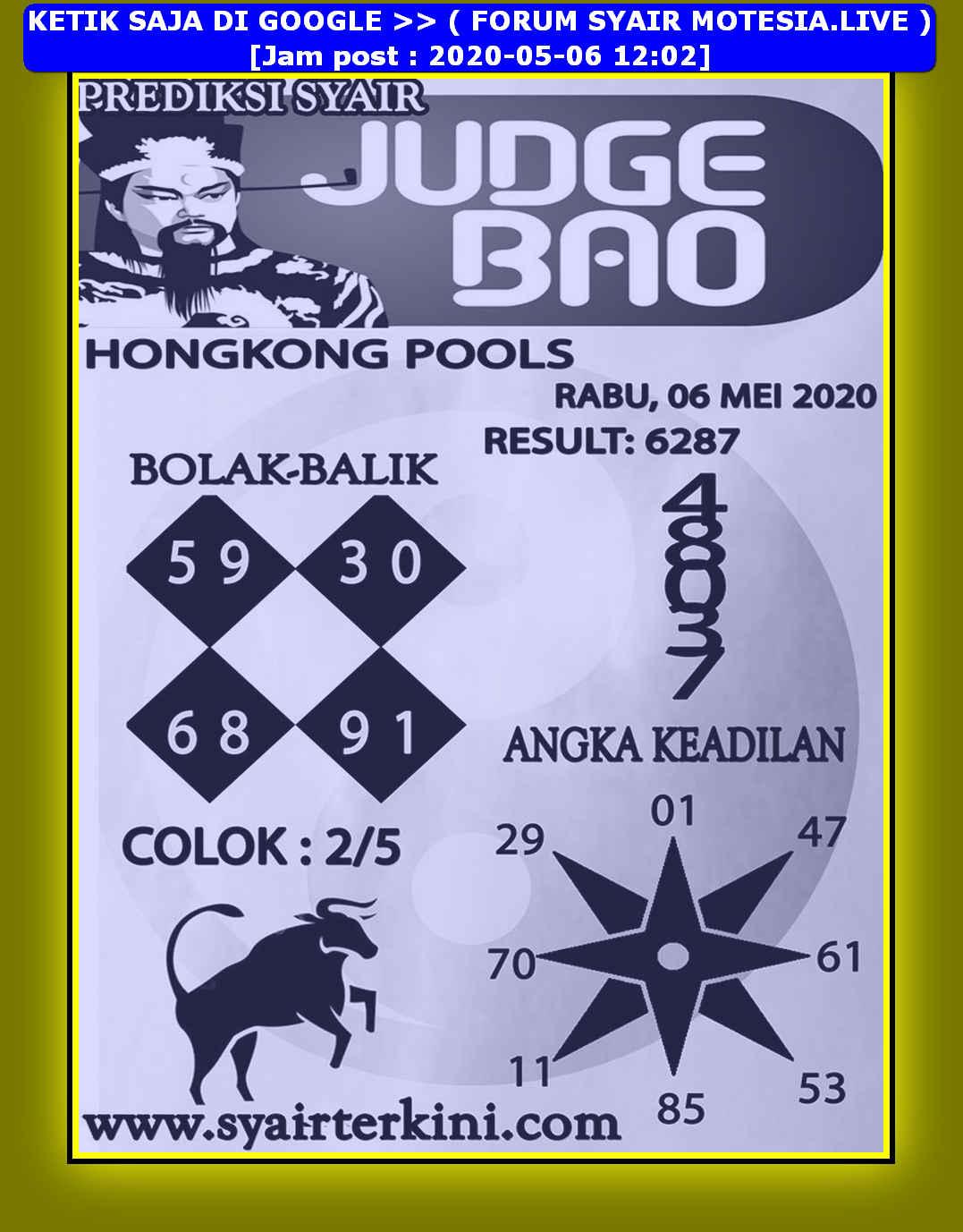 Kode syair Hongkong Rabu 6 Mei 2020 103
