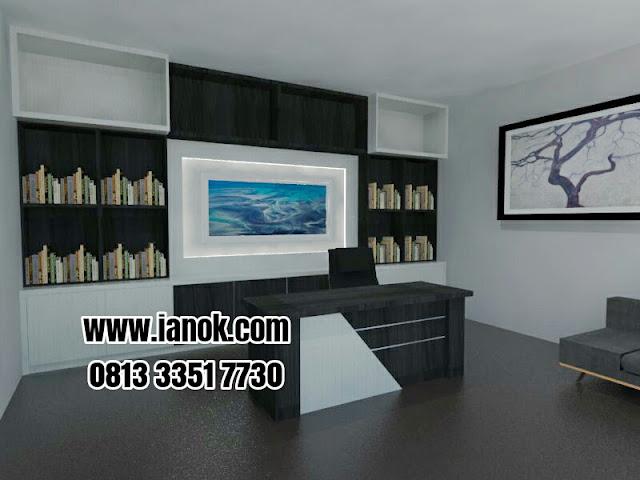 kontraktor furniture meja kantor minimalis