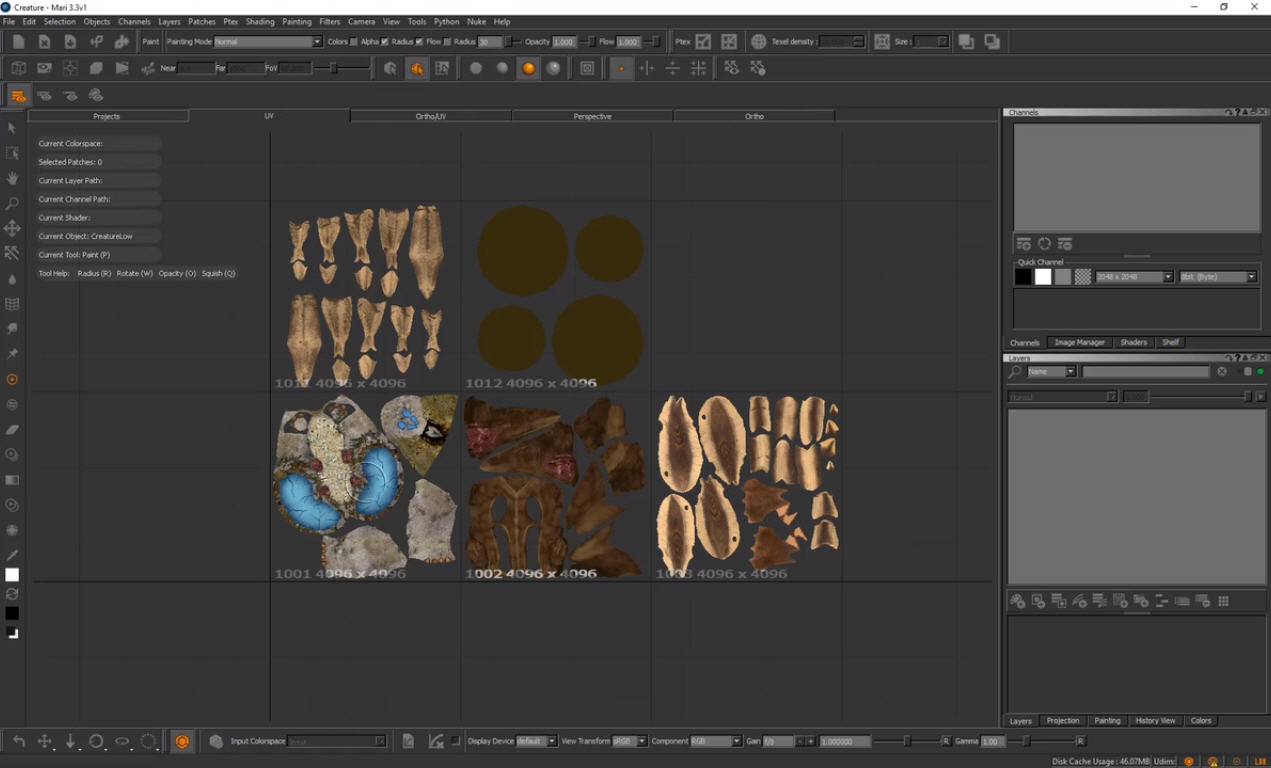 Importing Textures from Mari to C4D into Octane with UDIMS