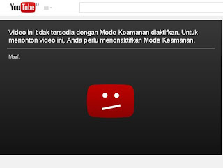mode aman atau mode terbatas di youtube