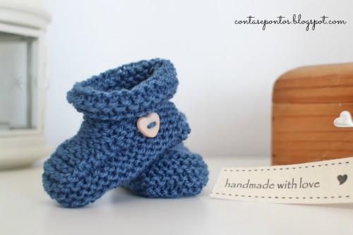 Botinhas de bebé em tricot