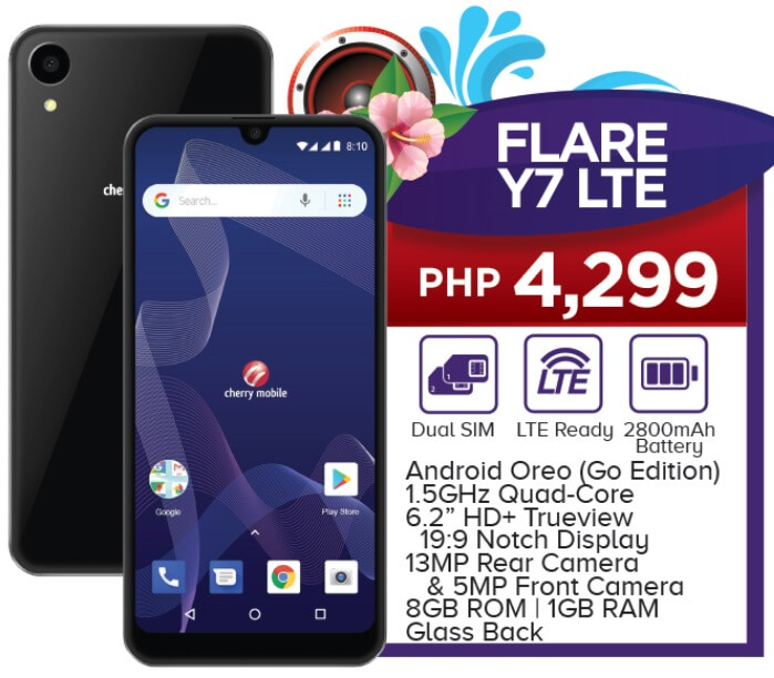 Cherry Mobile Flare Y7 LTE Specs, Price, Availability