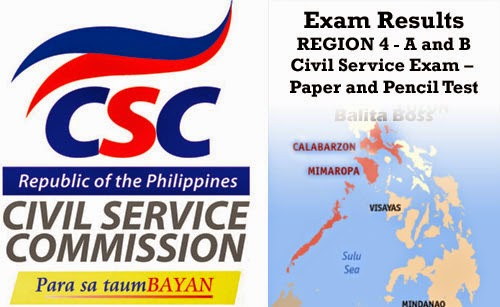 Region 4 - Civil Service Exam Results